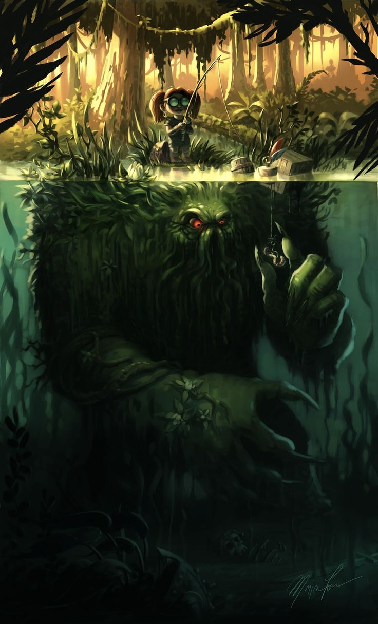 Concept Art Writing Prompt : Creepy little girl goes fishing for monsters