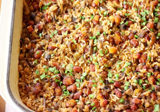 Vegan Cajun-spiced Dirty Rice [OMG.  This is delicious.  I minced the mushrooms and doing so added an almost buttery flavor and aroma to the dish.]