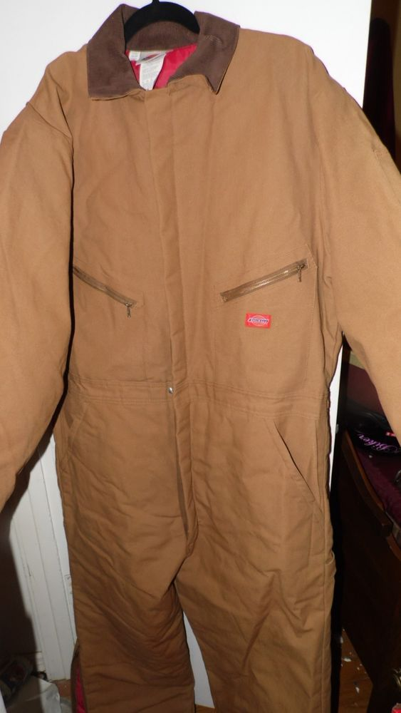 DICKIES INSULATED COVERALLS SIZE 46/48 TALL 32 INCH LONG LEGS #Dickies