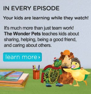 wonder pets wonder pets games videos coloring pages nick jr