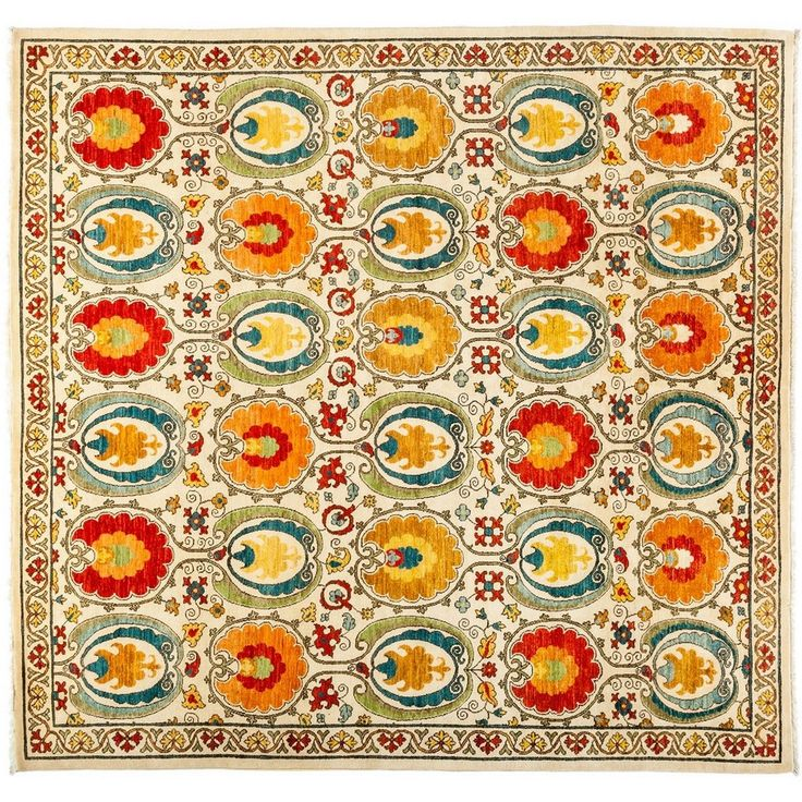 Vegetable Dyed Hand Knotted Floral Oushak Ivory Persian: 499 Best Images About Dining Room On Pinterest