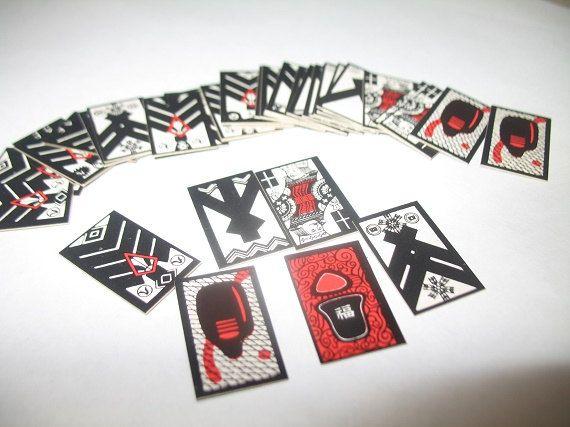 Kabufuda Japanese Playing Cards by KoiMonogatari on Etsy