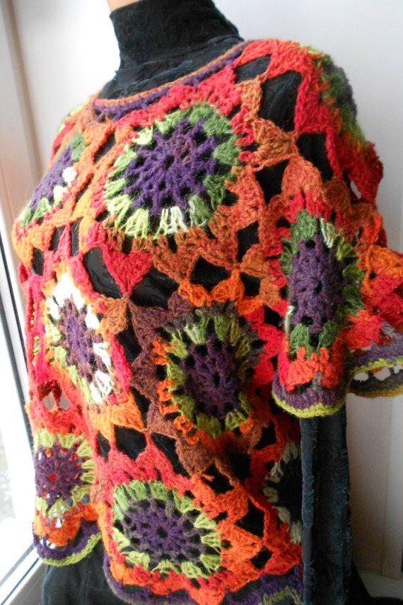 Crochet Jaket Crochet Pullover Crochet Vest by idafrompushkin