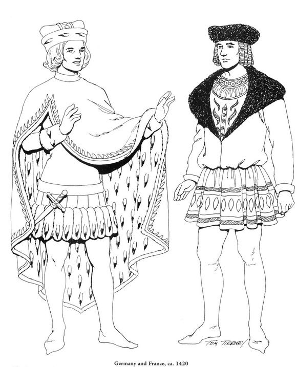 coloring page Clothing of the Renaissance -