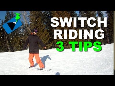 How to Ride Switch on a Snowboard - Snowboarding Tricks Switch riding is the key skill needed for learning snowboard tricks. The first tip is to find some very mellow terrain to first try switch snowboarding on. Switch is going to feel like you're learning to snowboard for the first time. So go back to the run where you first learned to turn your snowboard and practice switch there.