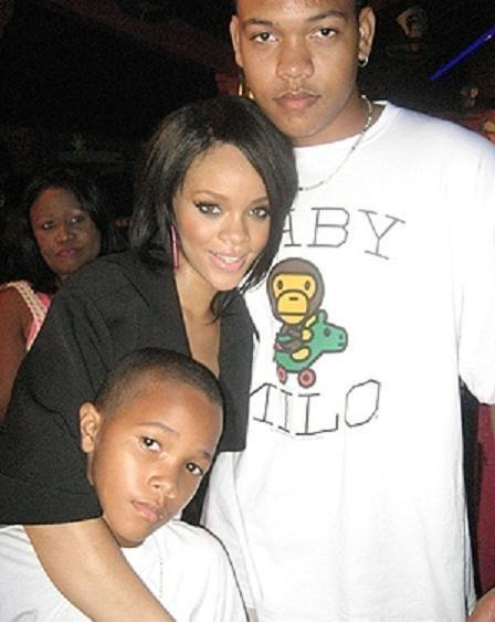 Rihanna and brothers Rorrey & Rajad Fenty