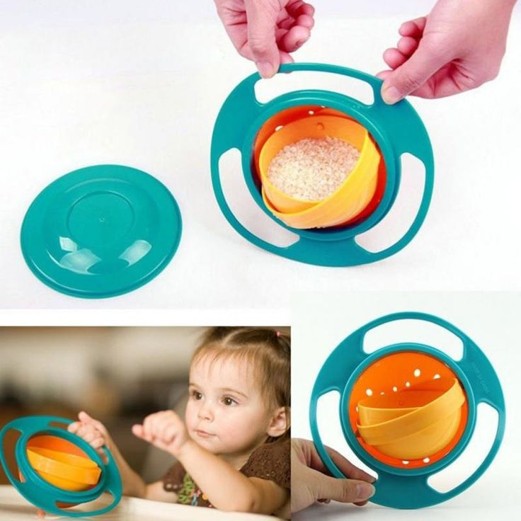 1PC 2017 New Arrival Hot Sales New Children Kid Baby Toy Universal 360 Rotate Spill-Proof Bowl Dishes &Wholesales