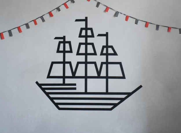 DIY Pirate Ship | 10 Ways To Get Decorative With Washi Tape