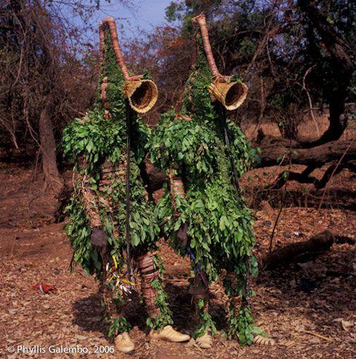 Masques de feuilles, Burkina Faso