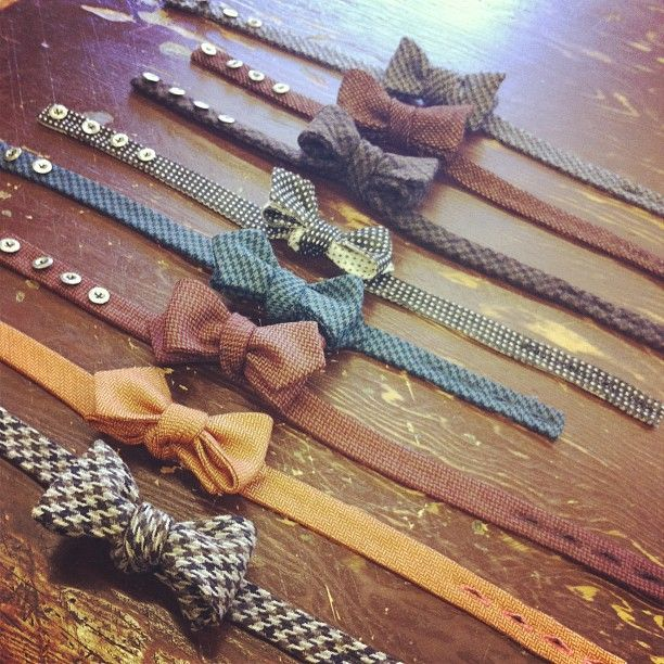 Button-on bowties are an easy way to get spiffy on a special occasion.