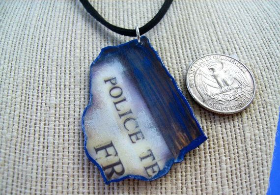 Police Box Fragment Necklace 11th Doctor Whovian by GenXNostalgia