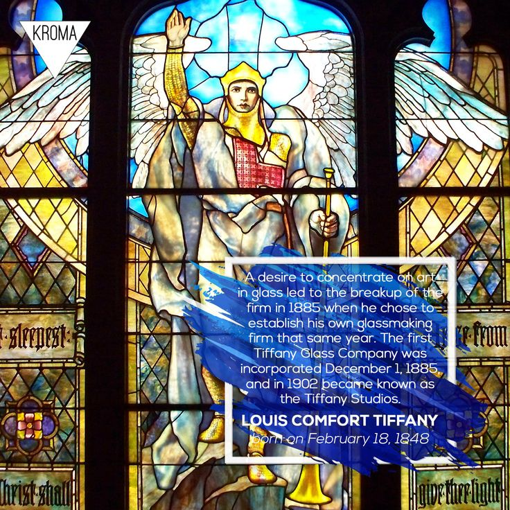 18/2 - Born Today: #LouisComfortTiffany was an American artist and designer who worked in the decorative arts and is best known for his work in stained glass. #KROMA #Kromamagazine #KROMAborntoday #borntoday #Tiffany