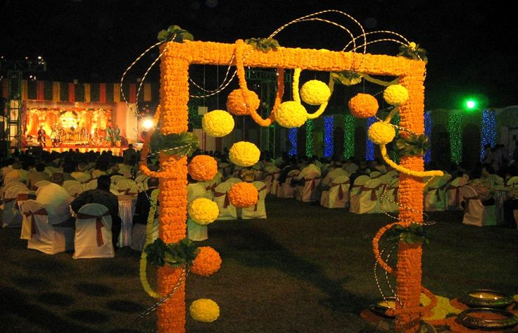 Background decor for outdoor Mehndi