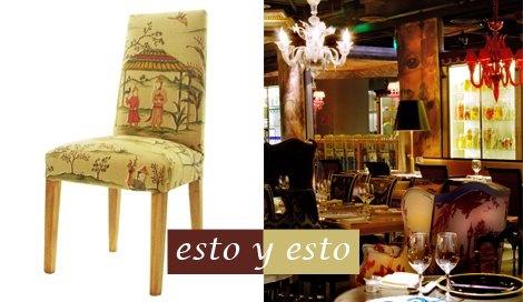 Silla tapiz oriental / EbanoDeco . Restaurante LAN by Philippe Stark en Beijing