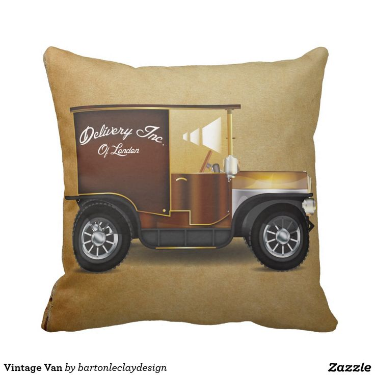 Vintage Van Throw Pillow