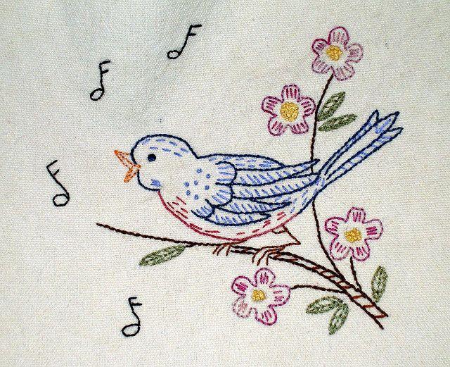 25 Best Ideas About Bird Embroidery On Pinterest