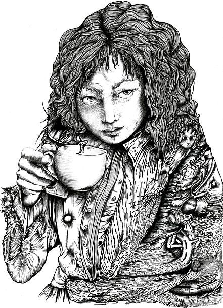 BETTLE TEA // Ink on Bristol Ninette Eponyme 2014