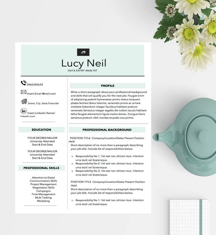 Professional Resume Template / Modern Resume Template /Cover Letter/ Administrative Assistant Resume + Instant Download TheColourfulMe is tailored to provide you with professional resumes that will assist you in your job search and being noticed by recruiters. My resumes include
