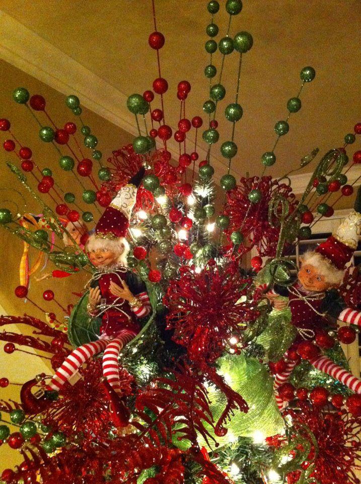 Christmas Tree Topper Elf On The Shelf Christmas Tree