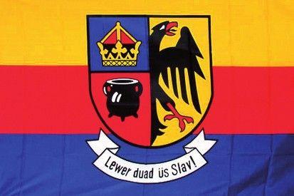 Kreis Nordfriesland (Schleswig-Holstein) - Flagge → Lewer duad üs Slav !