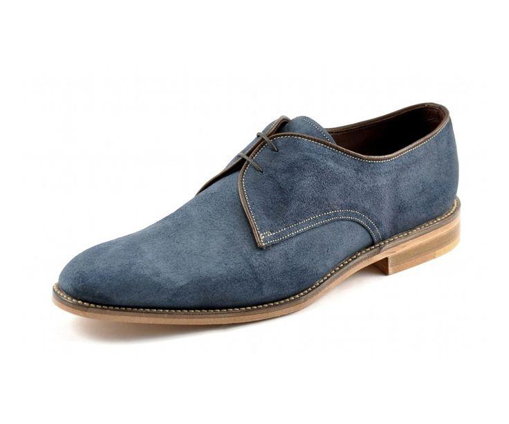 Loake Roux blue suede shoe