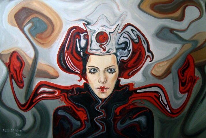 Kızıl Kraliçe , oil on canvas, 100 × 150 cm, 2012