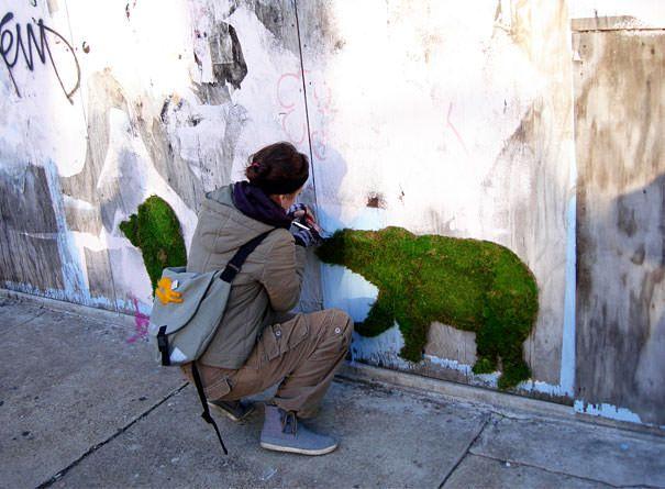 Découvrez comment faire du graffiti végétal ! Le résultat est vraiment classe...