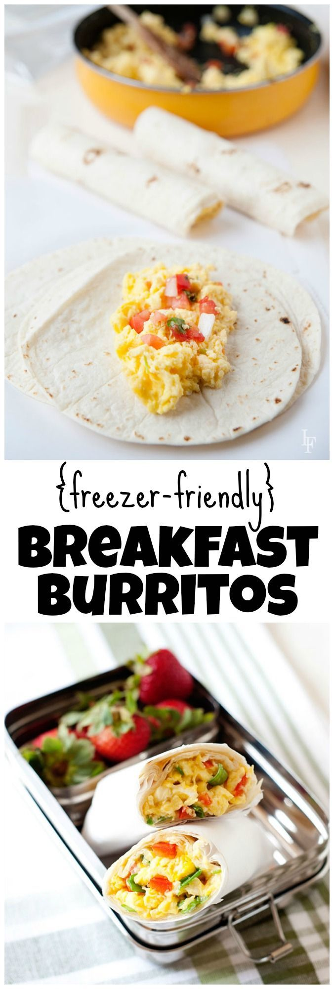 Freezer-Friendly Breakfast Burritos from LauraFuentes.com