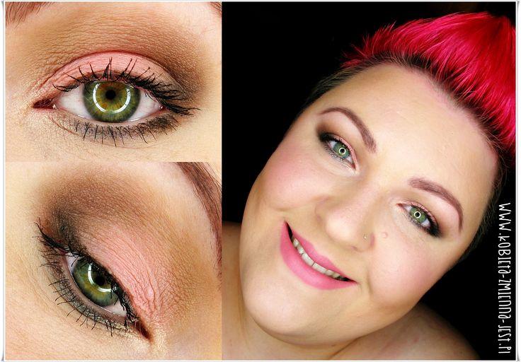makijaż makeup sleek oh so special róż brąz grafit szarość makijaż dla zielonych oczu makijaż dzienny makeupblogger blog eyes face