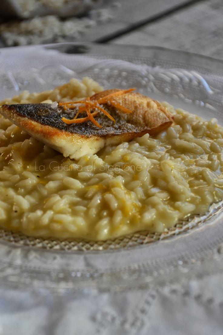 La Cucina di Stagione: Risotto ai mandarini, Champagne e branzino scottato