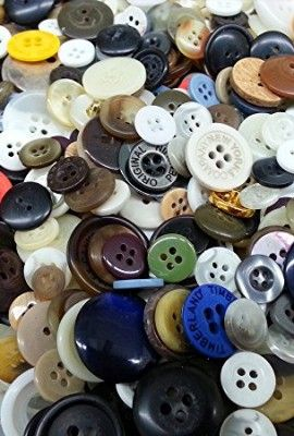 8-oz-BULK-Assorted-Buttons-for-craft-projects-bead-crochet-quilt-sewing-embellishing-0