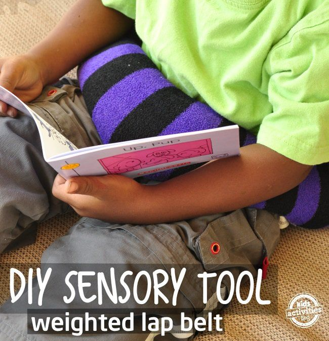 DIY weighted lap belt it is great to help kids sit still
