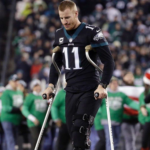 Carson Wentz is at the game tonight! #WinItForWentz ______________________________________________  #CarsonWentz #NickFoles #EaglesNation #FlyEaglesFly #GoEagles #PhiladelphiaEagles #Eagles #GoBirds #Philly #Philadelphia #BleedGreen #WeBleedGreen #NFL #BirdGang #EaglesNest #EaglesEverything #EaglesFootball