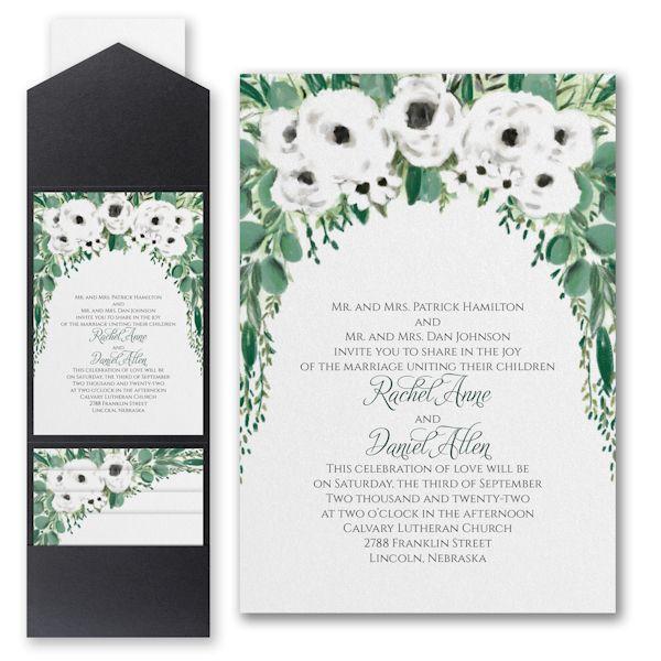 Carlson Craft Pocket Wedding Invitations: Greenery Garden Pocket Wedding Invitation In 2019