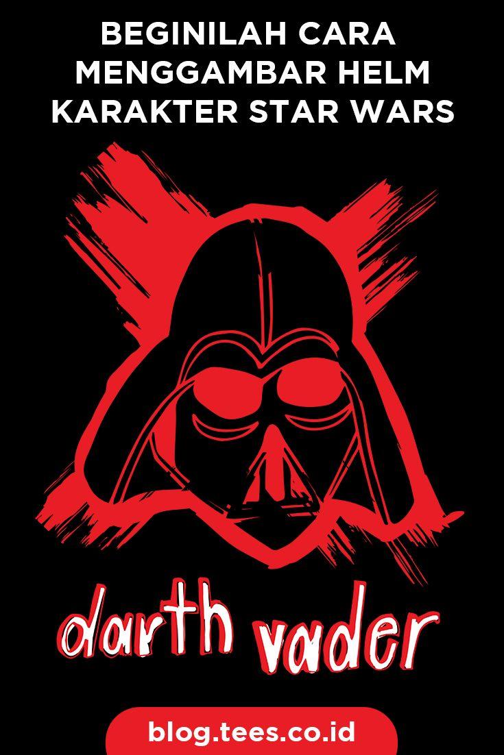 How to draw Star Wars Helmet   Click http://blog.tees.co.id/menggambar-helm-star-wars?utm_source=pinterest-social&utm_medium=post&utm_campaign=artikel #teesblog #starwars