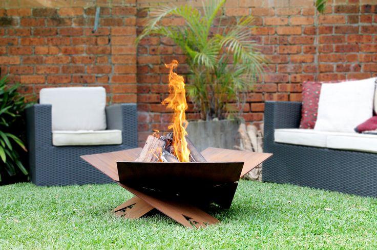 Fire-Away Fire Pit | Australian made | Flat pack design | garden landscaping inspiration