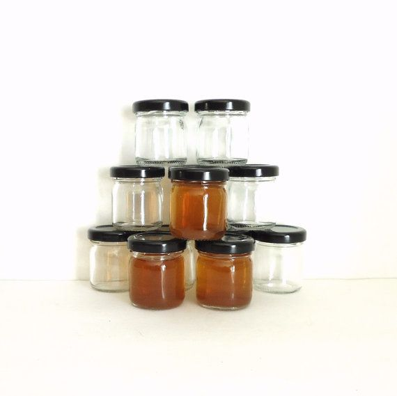 rustic wedding shot glasses small jars sample by masonjardecor
