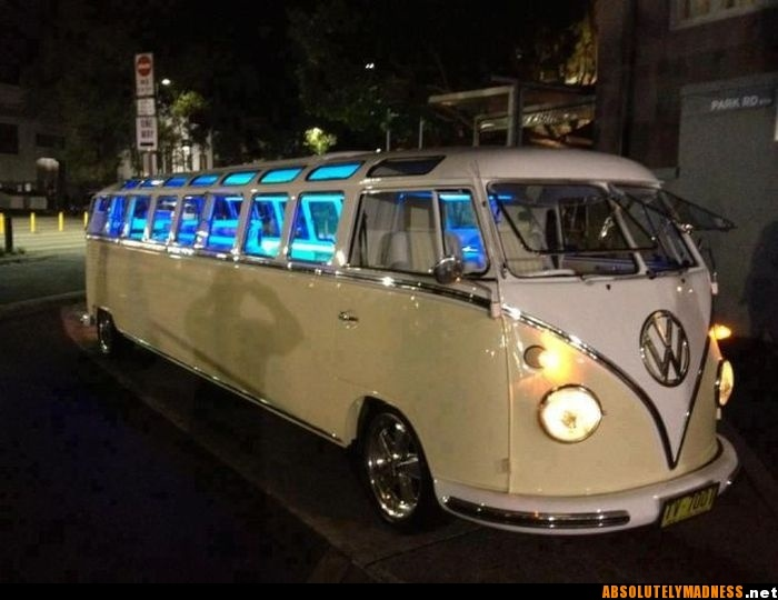 I want this (forget want) I need it. It'll make me happy! A big ole VW bus...all mine.