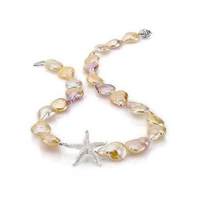 Collier en perles baroques