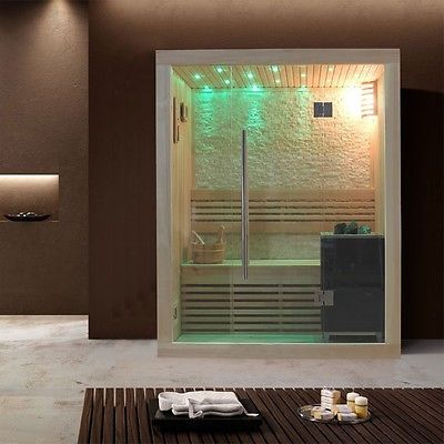 Sauna | Pappelholz | 3kW EOS BiO-Mini | 150x105 cm