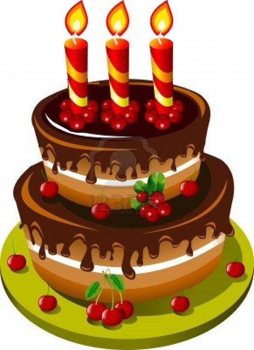 Happy Birthday Drawing Cake