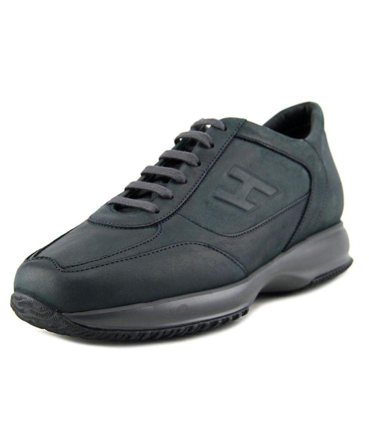HOGAN Hogan New Interactive H Rilievo Men  Round Toe Leather Blue Sneakers'. #hogan #shoes #sneakers