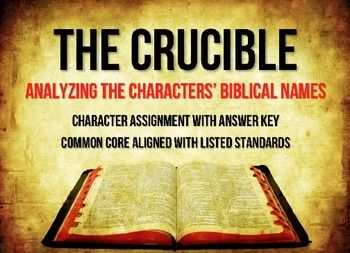 teaching the crucible in a christian Explanation of the famous quotes in the crucible, including all important  i  never knew the lying lessons i was taught by all these christian women and their .