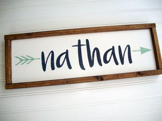 Rustic Name Sign . Tribal Nursery Decor . Custom by RessieLillian