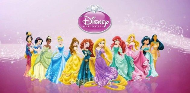 """Interesting discussion about the """"overglamouring"""" of the Disney Princesses, denying their supposed personnalities, and trying to make them all look the same. Also, notice the position of all the """"ethnic"""" princesses in the row ? As if position was chosen based on hair colour..."""