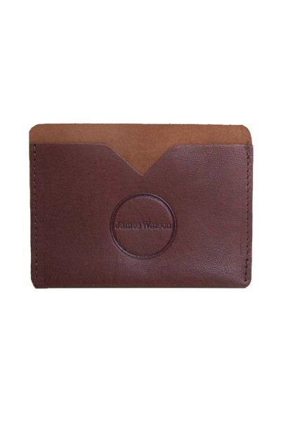 Handmade and Ethical | James Watson Card Holder in Brown | Scandinavian Style