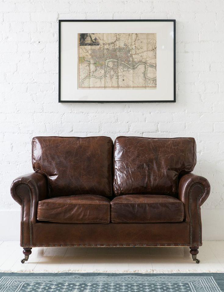 Superbe Vintage Leather Sofa   2 Seater