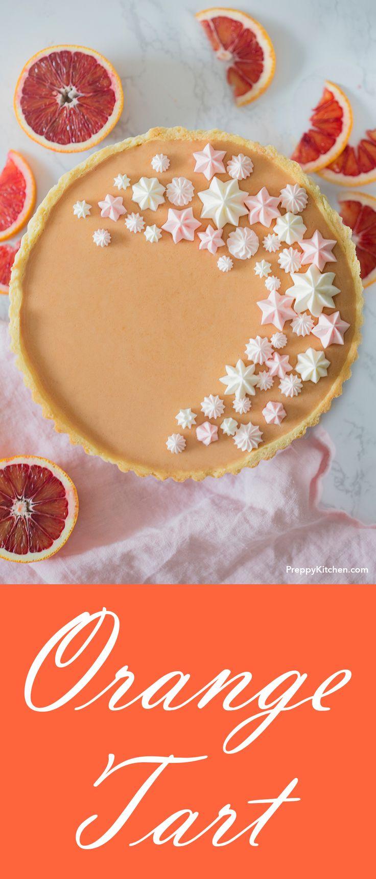 Homemade Blood Orange Tart with delicate Swiss buttercream dollops - Pies and tarts, fruit tarts, blood orange desserts, easy desserts #desserts #recipes, #bloodorange #tart #sweets #orange #mothersday #brunch #comfortfood