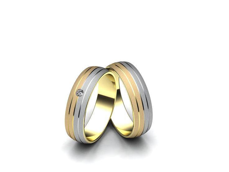 Snubní prsteny A2664  #aiola #wedding #rings