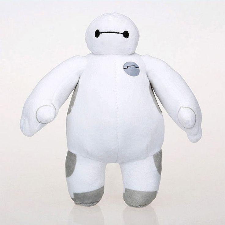 Cheap 2015 18 cm nueva gran héroe 6 Baymax muñeca de la felpa Toy Robot 18 cm 7 pulgadas venta al por mayor al por menor bighero6 de peluche de felpa regalo de cumpleaños, Compro Calidad Películas y TV directamente de los surtidores de China: